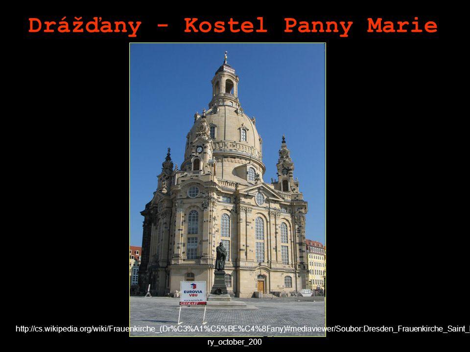 Drážďany - Kostel Panny Marie