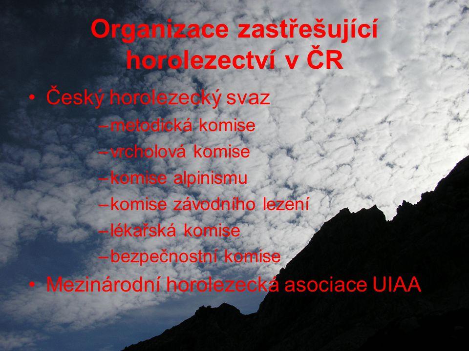 Organizace zastřešující horolezectví v ČR