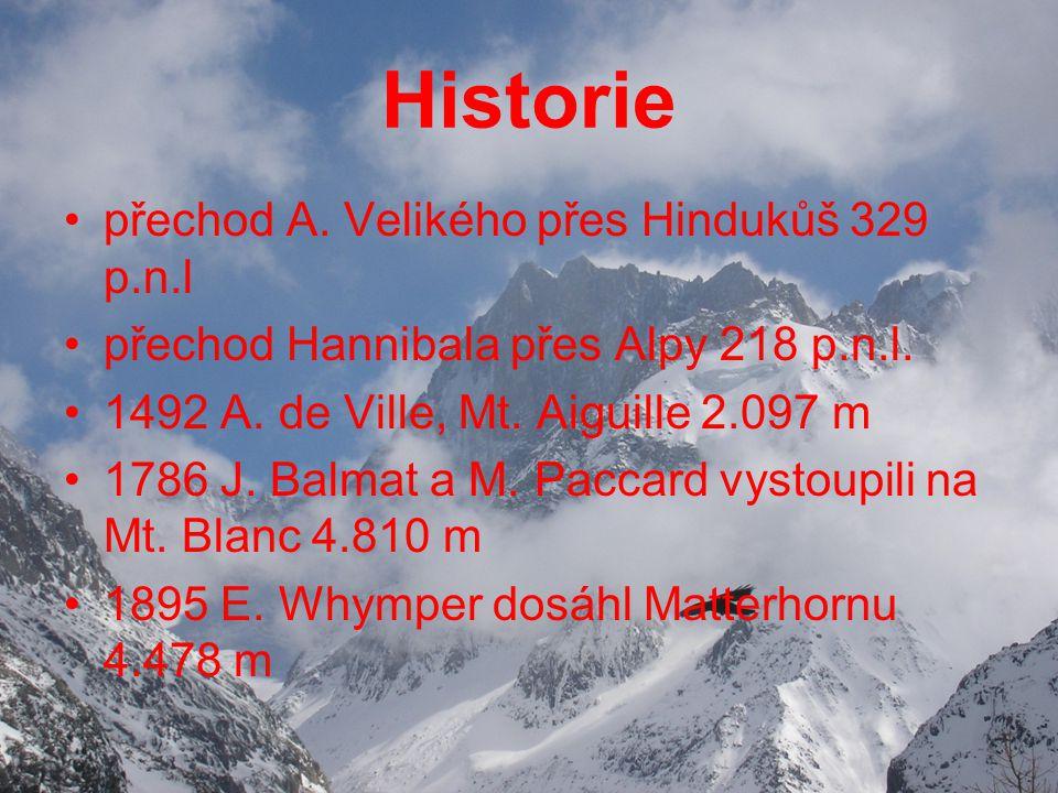 Historie přechod A. Velikého přes Hindukůš 329 p.n.l