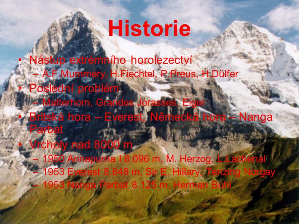 Historie Nástup extrémního horolezectví Poslední problém