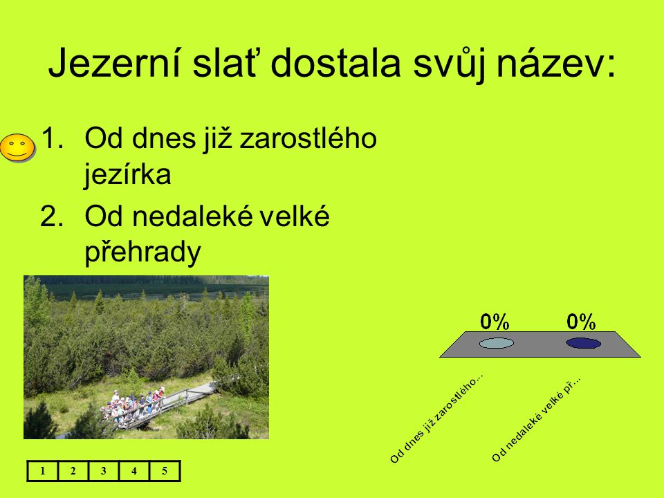 Jezerní slať dostala svůj název: