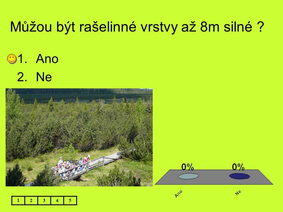 Můžou být rašelinné vrstvy až 8m silné