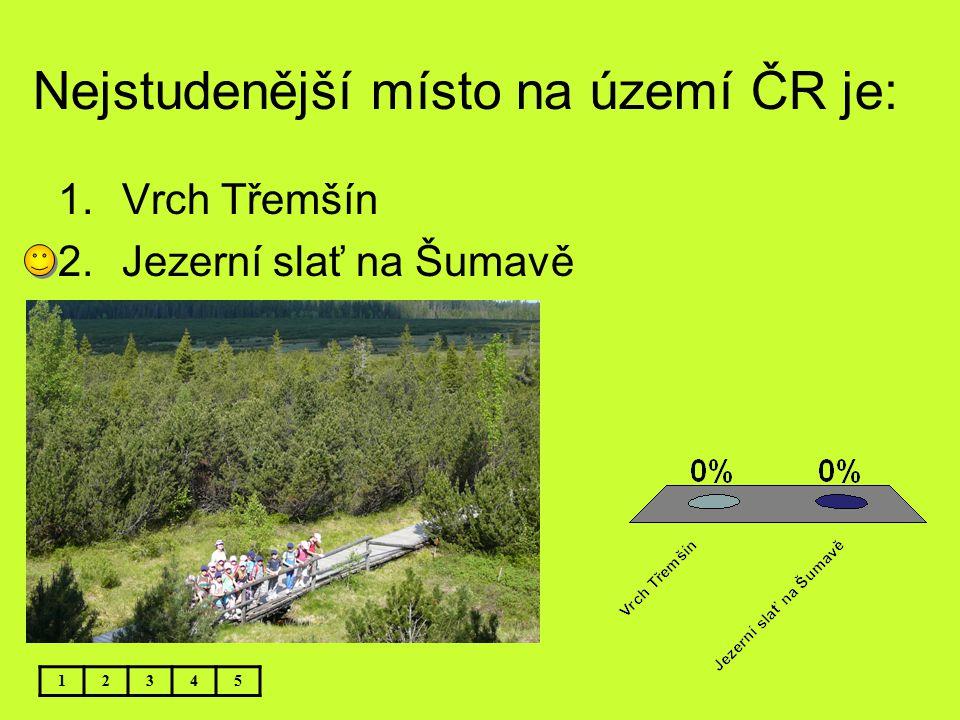 Nejstudenější místo na území ČR je: