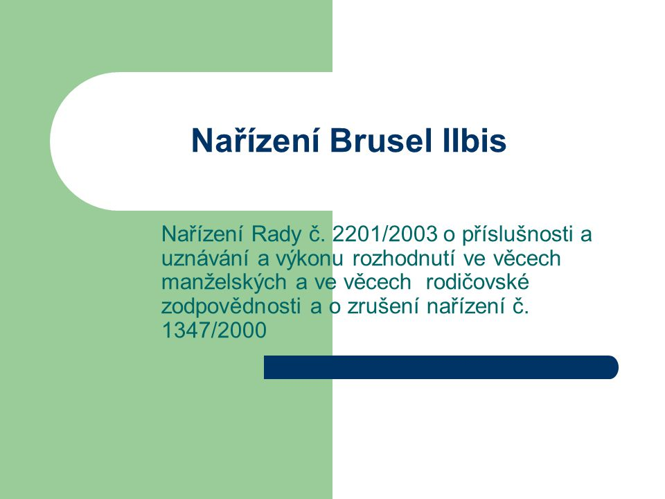 Nařízení Brusel IIbis