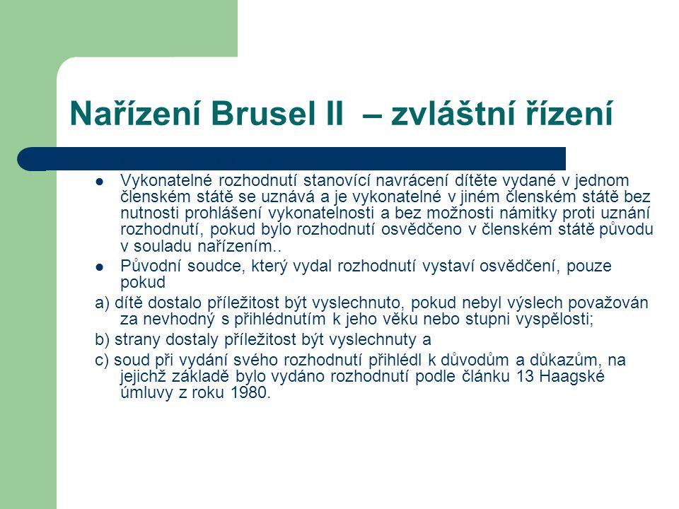 Nařízení Brusel II – zvláštní řízení