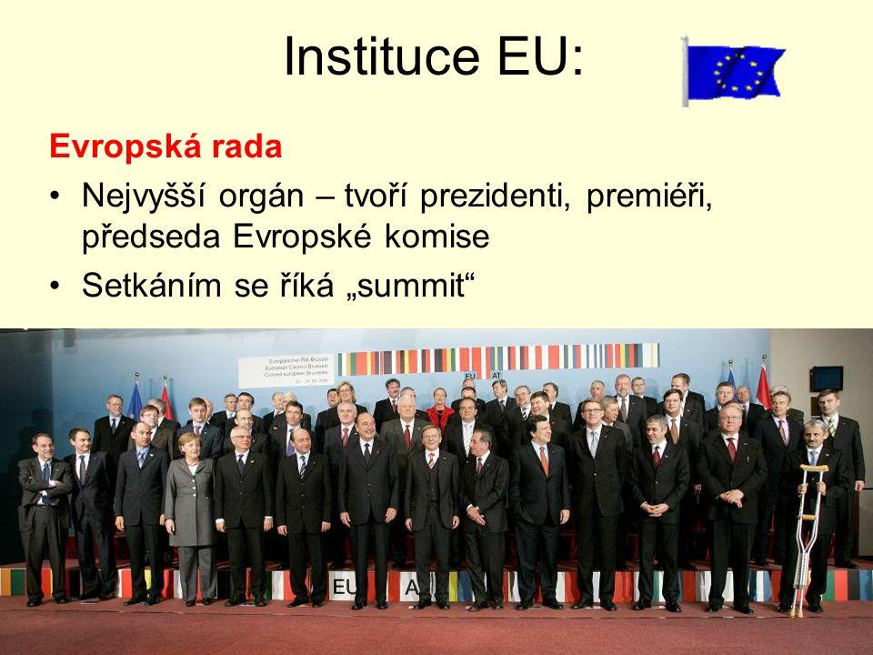 Instituce EU: Evropská rada