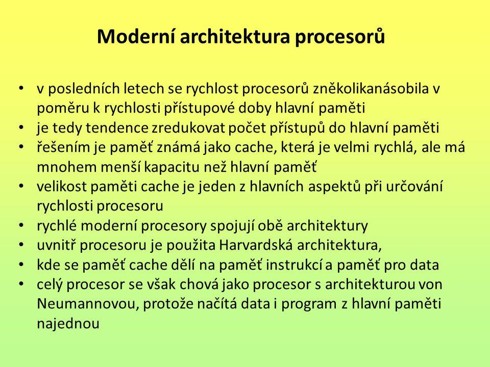 Moderní architektura procesorů