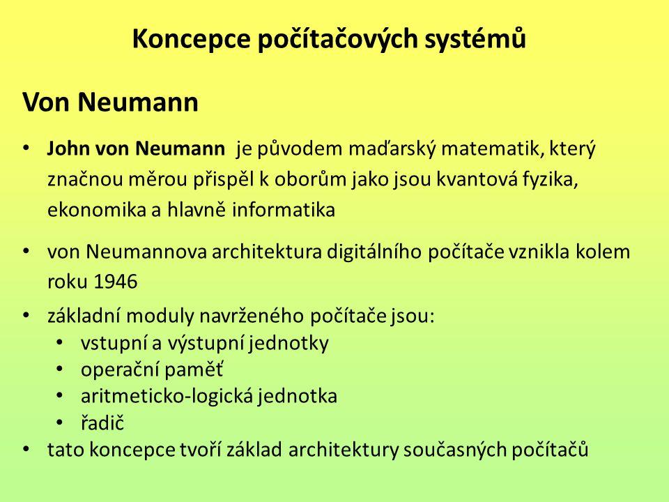 Koncepce počítačových systémů