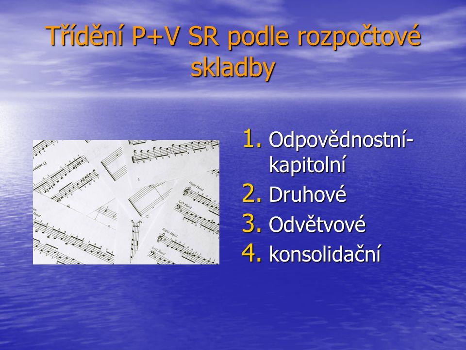 Třídění P+V SR podle rozpočtové skladby