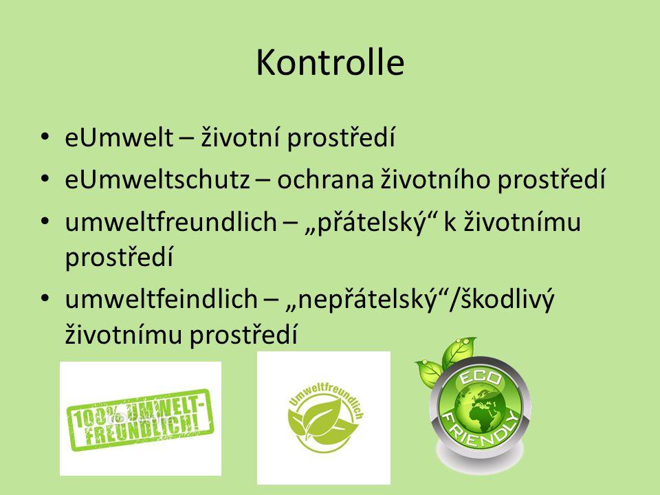 Kontrolle eUmwelt – životní prostředí