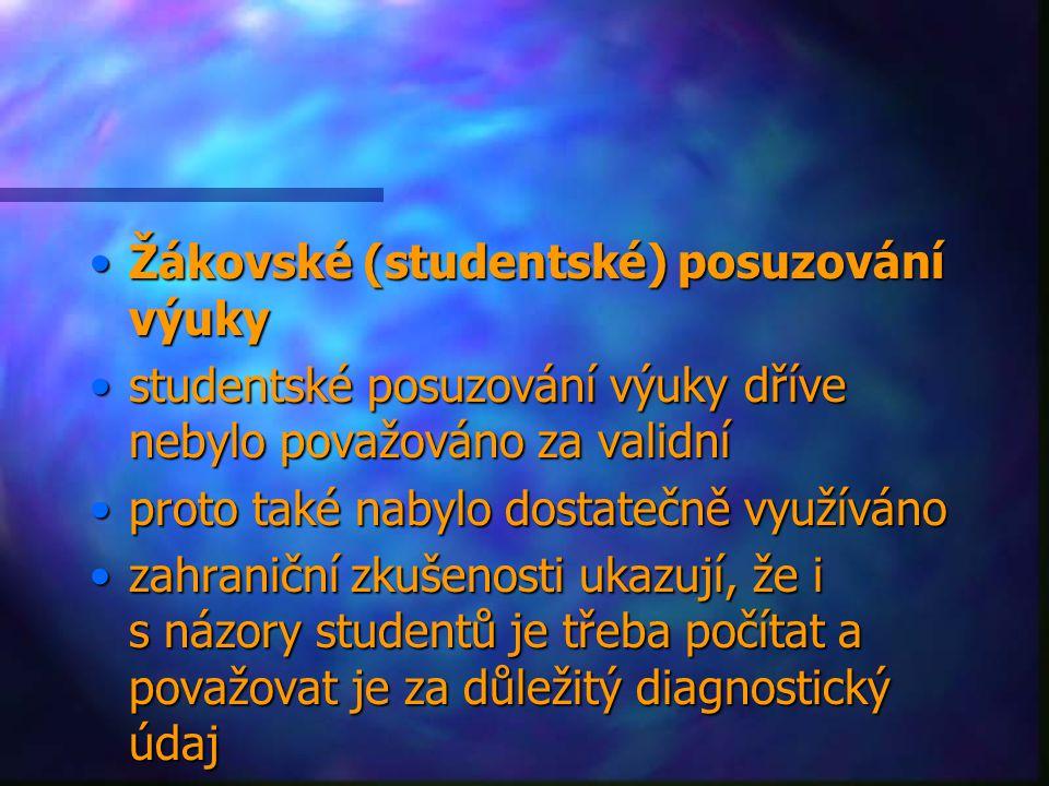 Žákovské (studentské) posuzování výuky