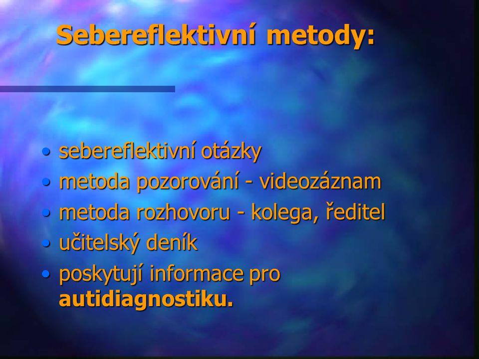 Sebereflektivní metody: