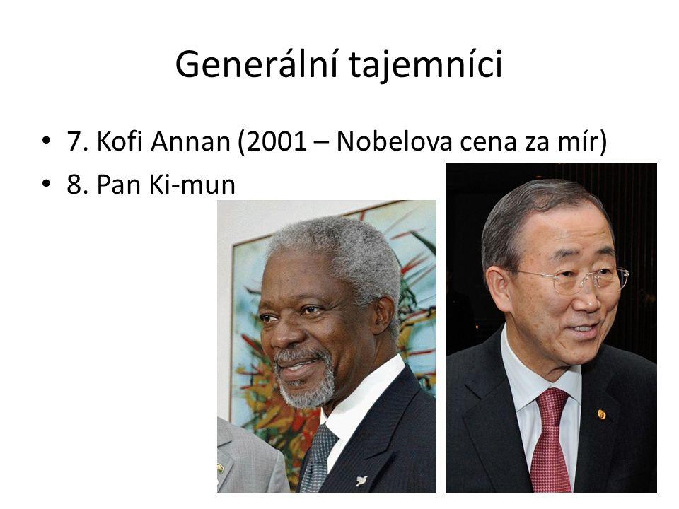 Generální tajemníci 7. Kofi Annan (2001 – Nobelova cena za mír)