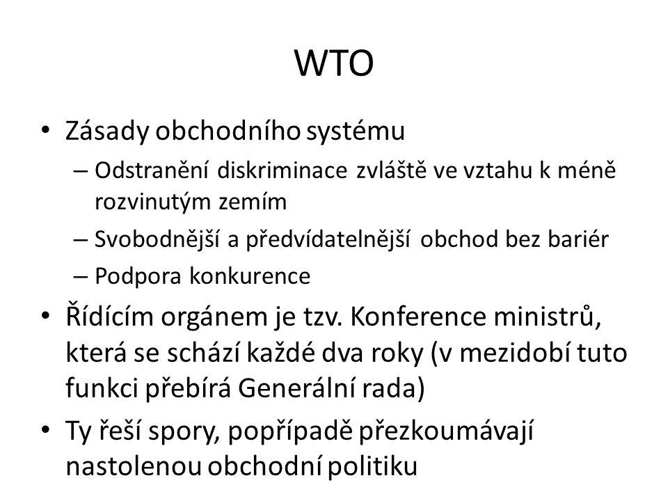 WTO Zásady obchodního systému