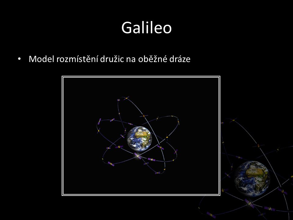Galileo Model rozmístění družic na oběžné dráze
