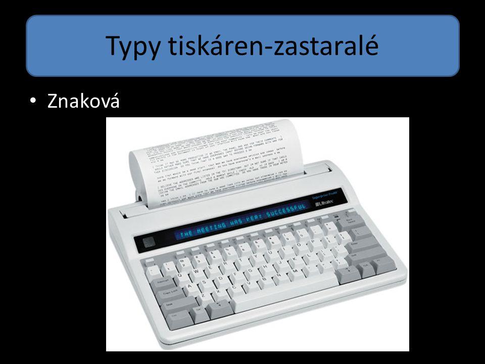 Typy tiskáren-zastaralé