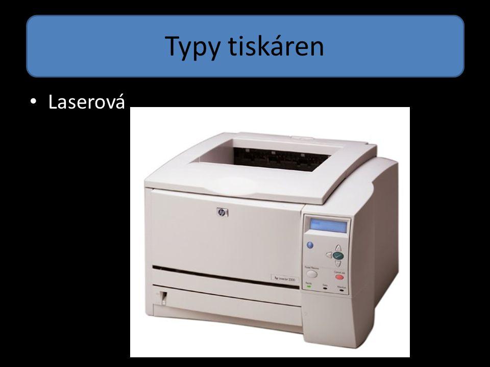 Typy tiskáren Laserová