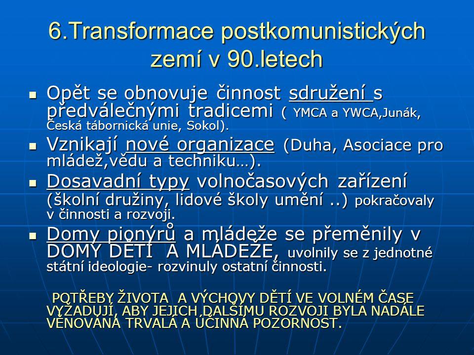 6.Transformace postkomunistických zemí v 90.letech
