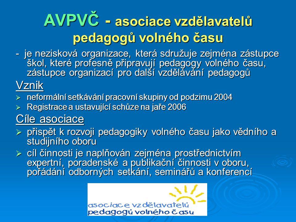 AVPVČ - asociace vzdělavatelů pedagogů volného času