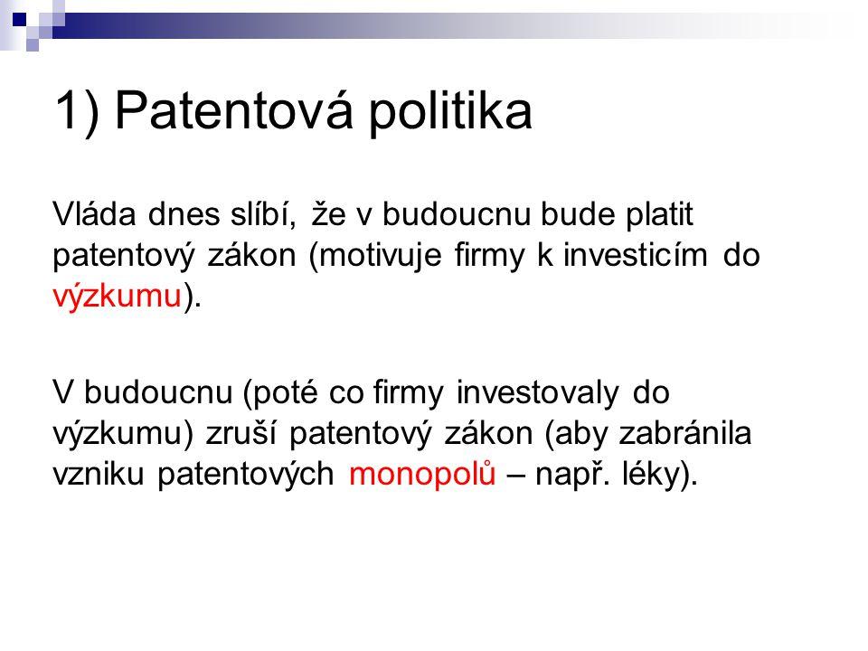 1) Patentová politika