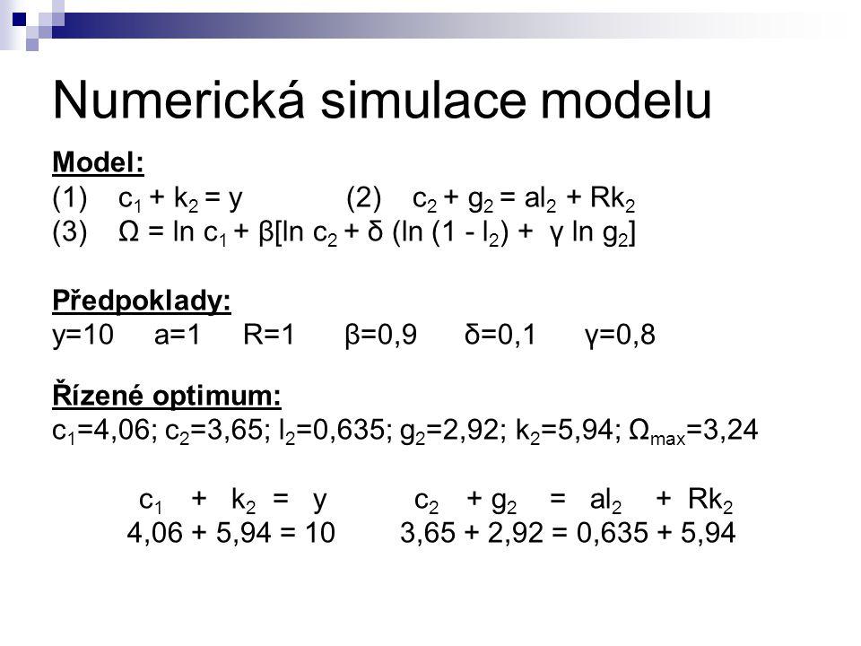 Numerická simulace modelu