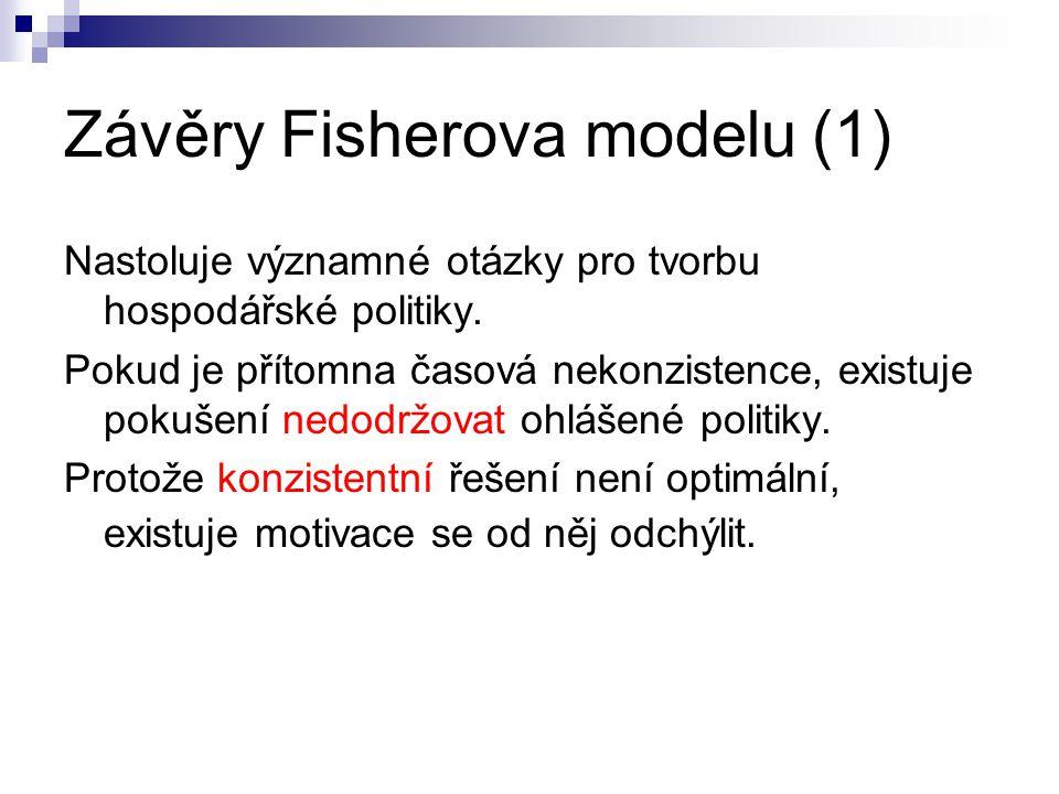 Závěry Fisherova modelu (1)