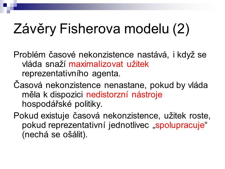 Závěry Fisherova modelu (2)
