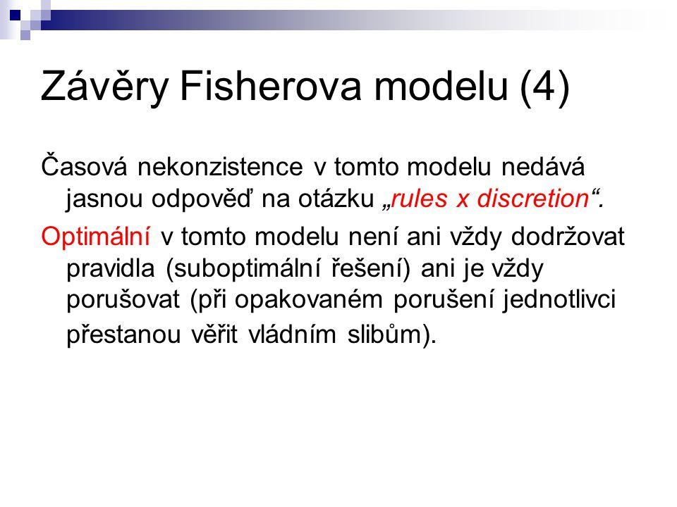 Závěry Fisherova modelu (4)