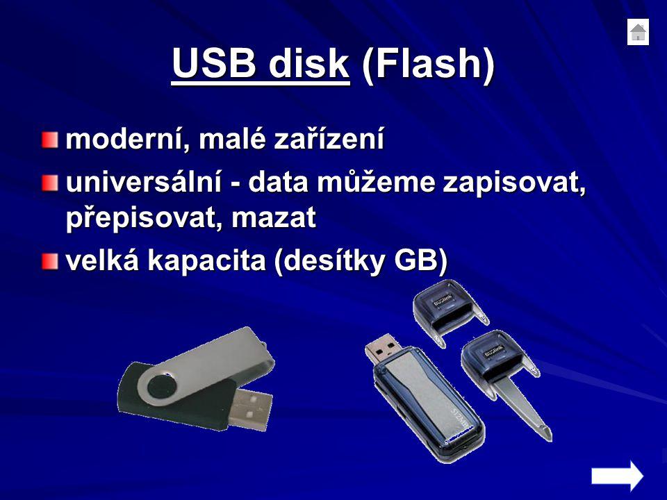USB disk (Flash) moderní, malé zařízení