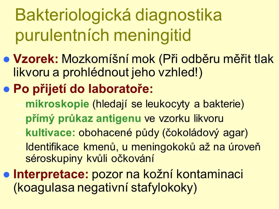 Bakteriologická diagnostika purulentních meningitid