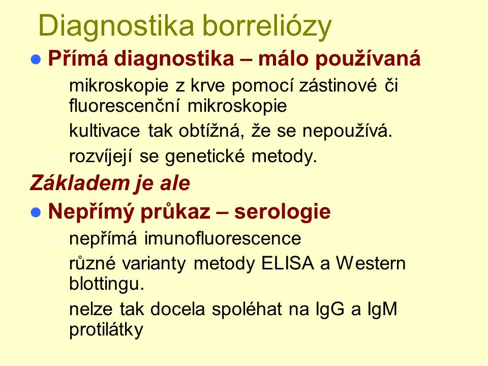 Diagnostika borreliózy