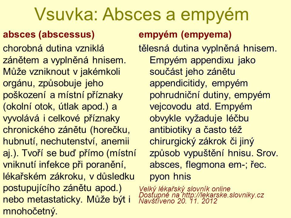 Vsuvka: Absces a empyém
