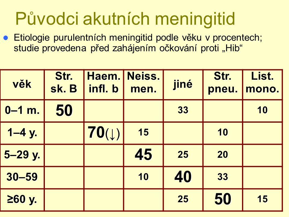 Původci akutních meningitid