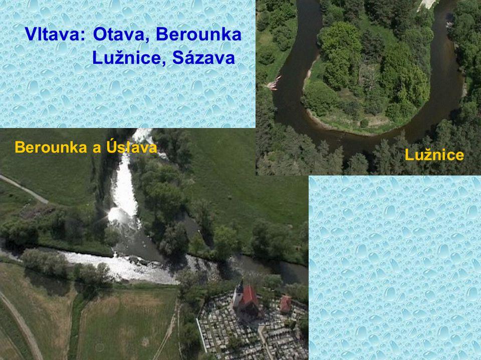 Vltava: Otava, Berounka Lužnice, Sázava
