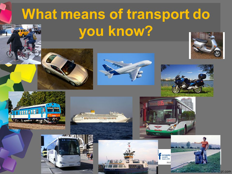 What means of transport do you know