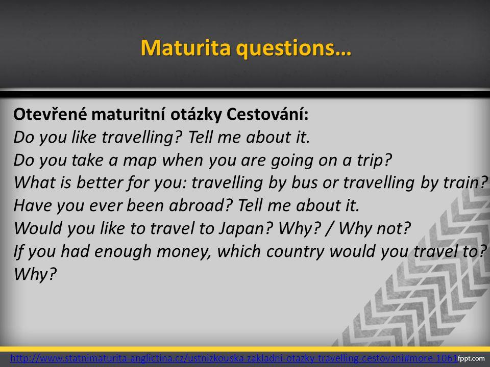 Maturita questions…