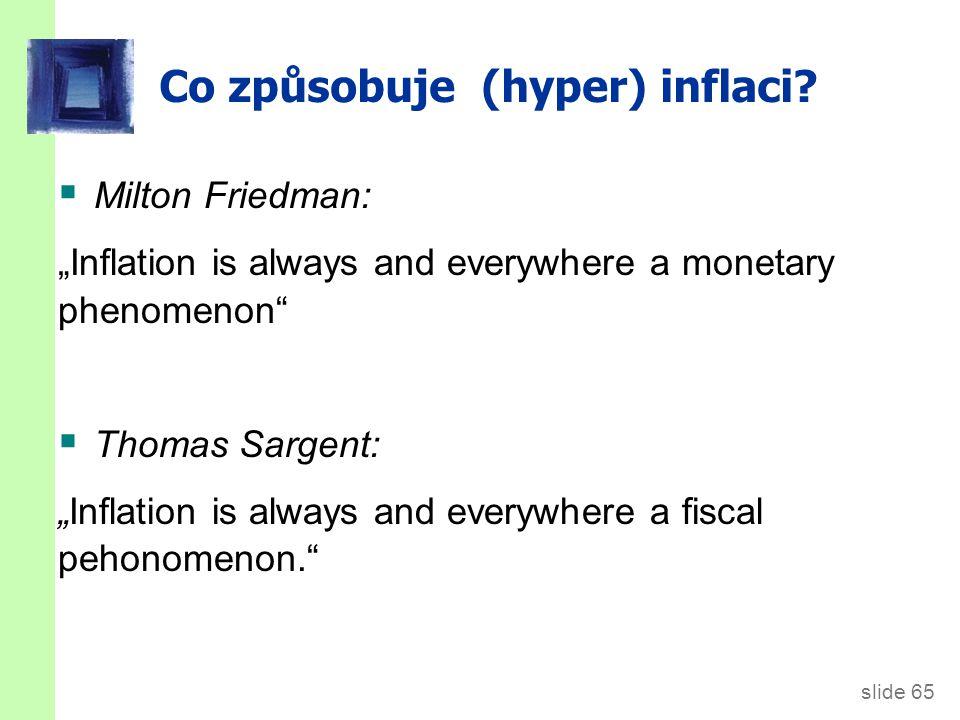 Co způsobuje hyperinflaci
