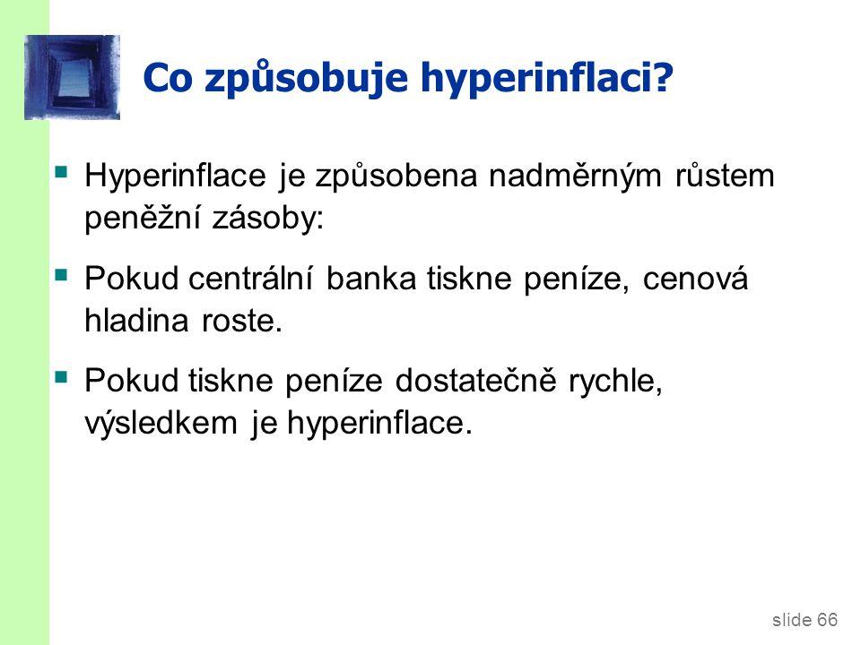 Několik příkladů hyperinflace