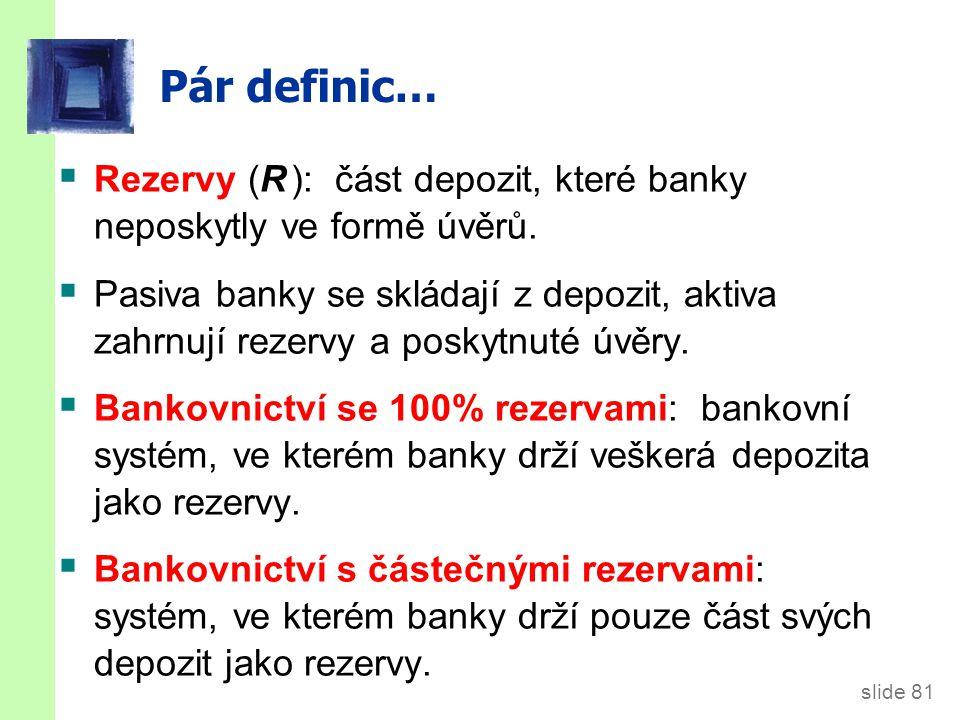 SCÉNÁŘ 1: žádné banky Bez bank, D = 0 and M = C = $1000.
