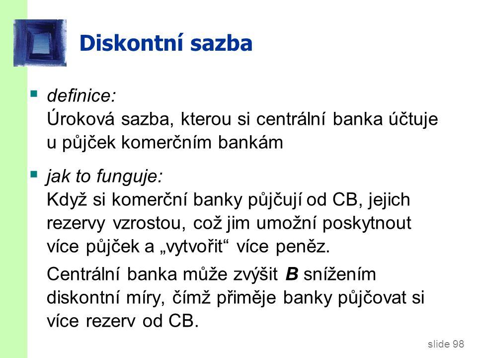 Úrokové sazby v ČR Repo sazba (v současnosti 0.05 %)