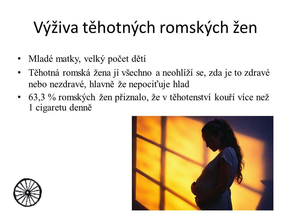 Výživa těhotných romských žen