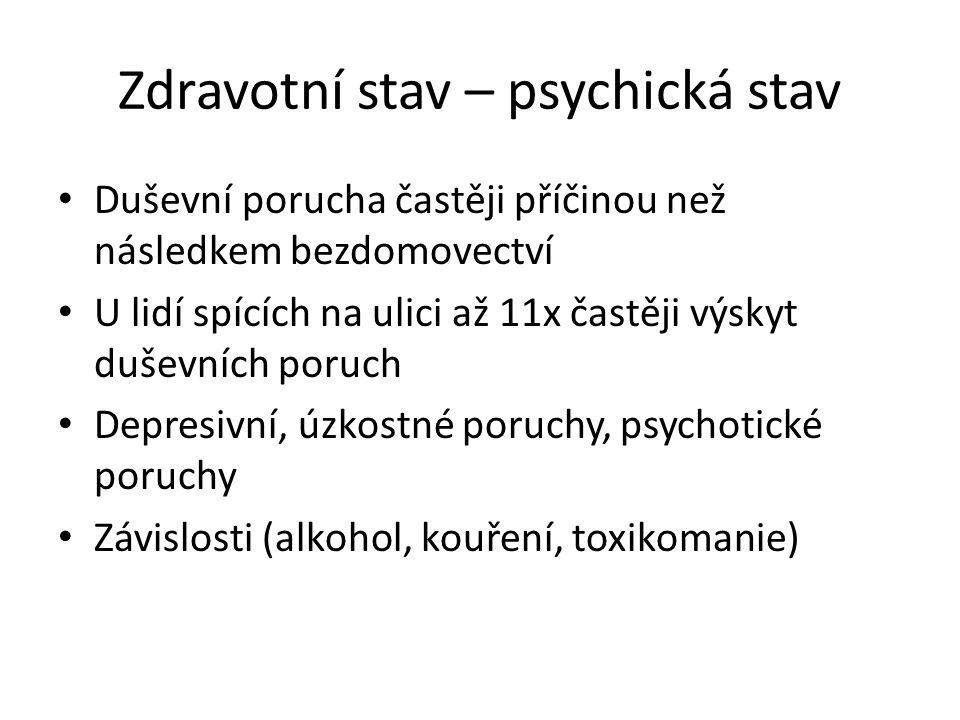 Zdravotní stav – psychická stav
