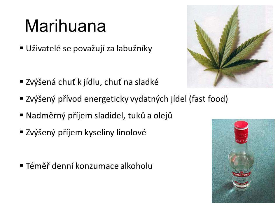 Marihuana Uživatelé se považují za labužníky