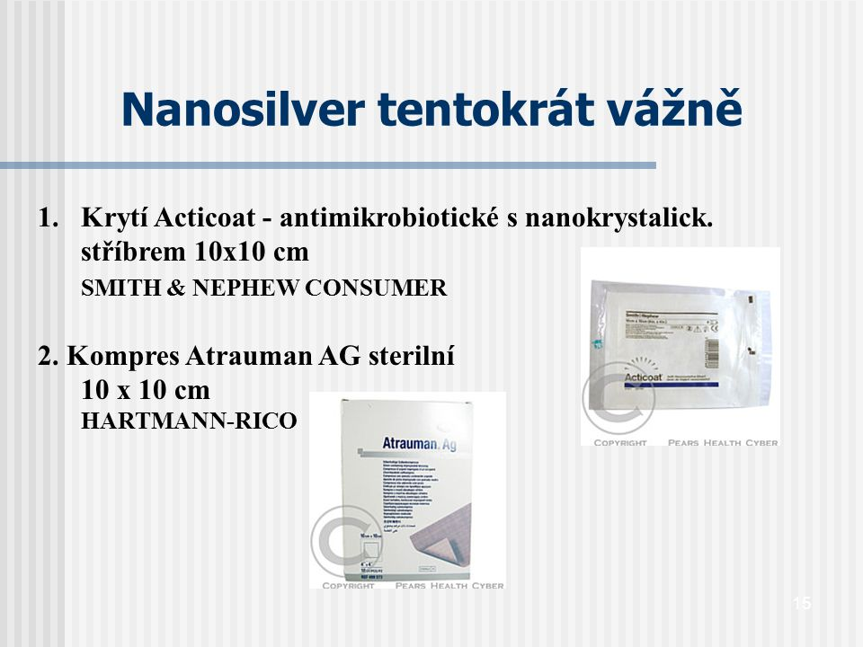 Nanosilver tentokrát vážně