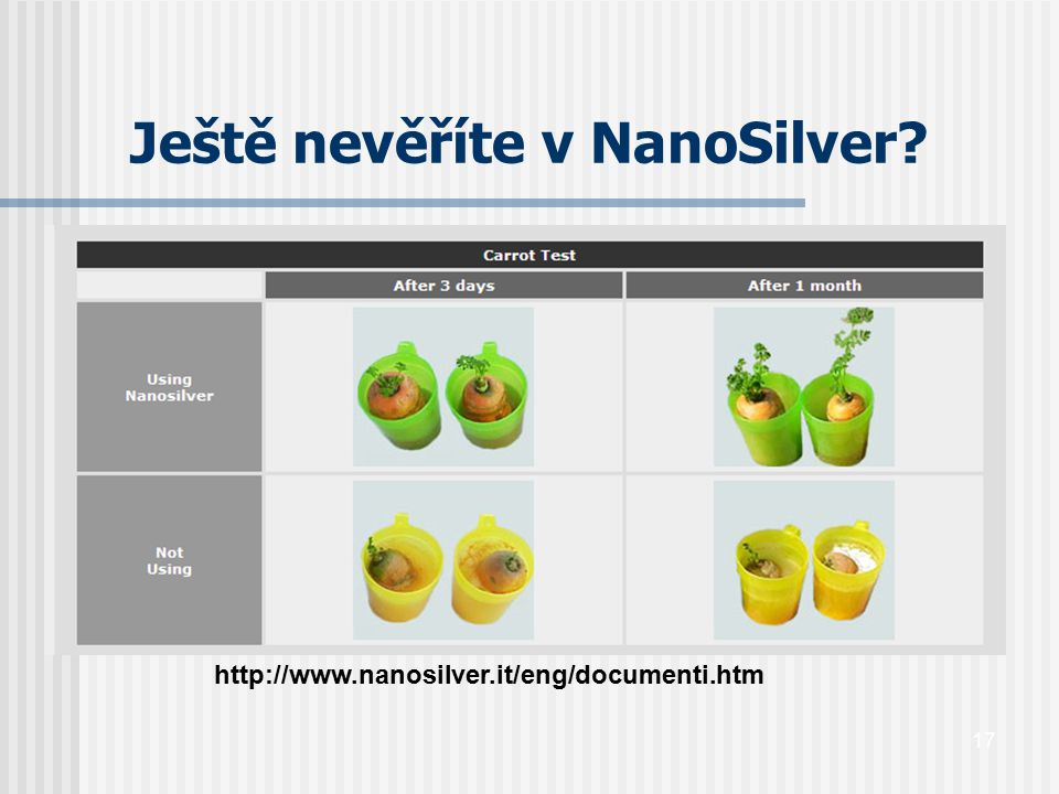 Ještě nevěříte v NanoSilver