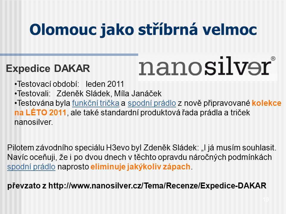 Olomouc jako stříbrná velmoc