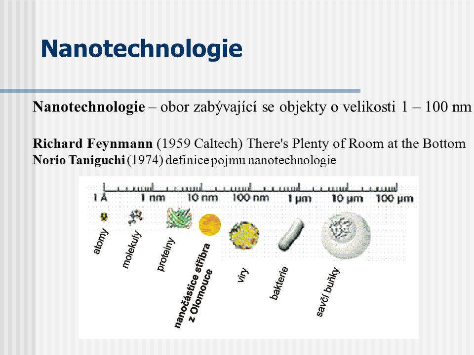 Nanotechnologie Nanotechnologie – obor zabývající se objekty o velikosti 1 – 100 nm.