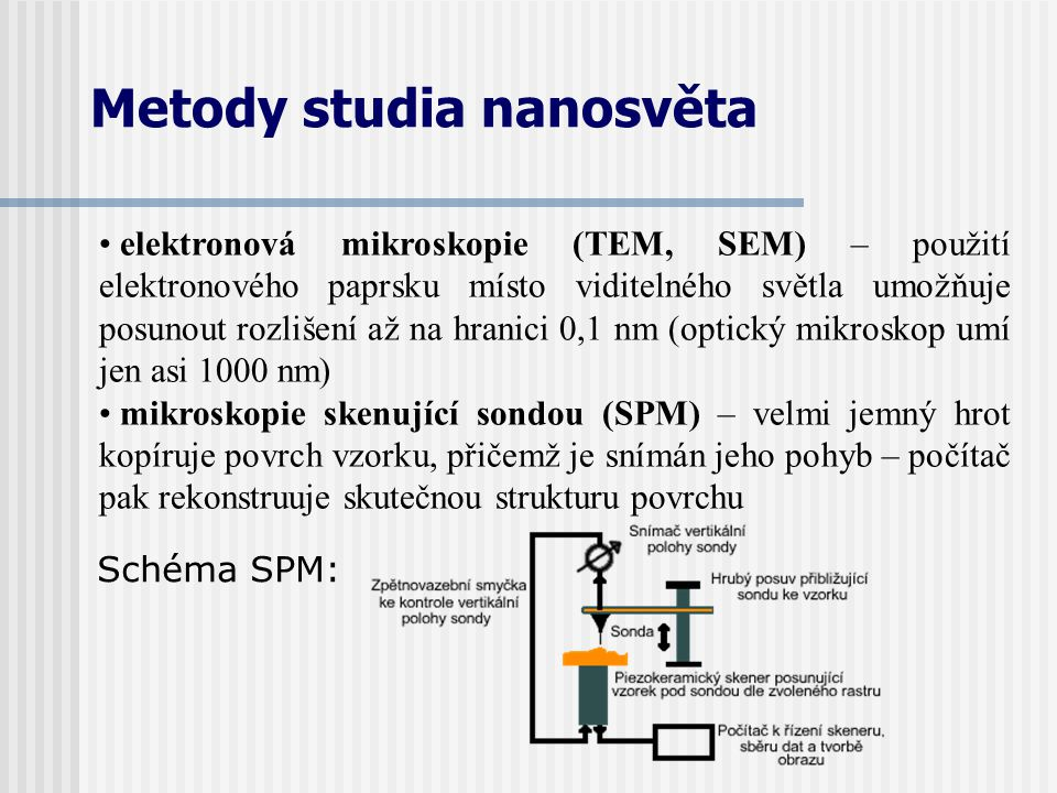 Metody studia nanosvěta