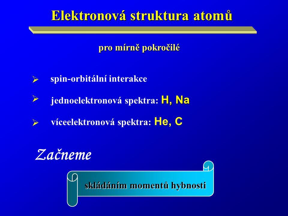 Začneme Elektronová struktura atomů pro mírně pokročilé