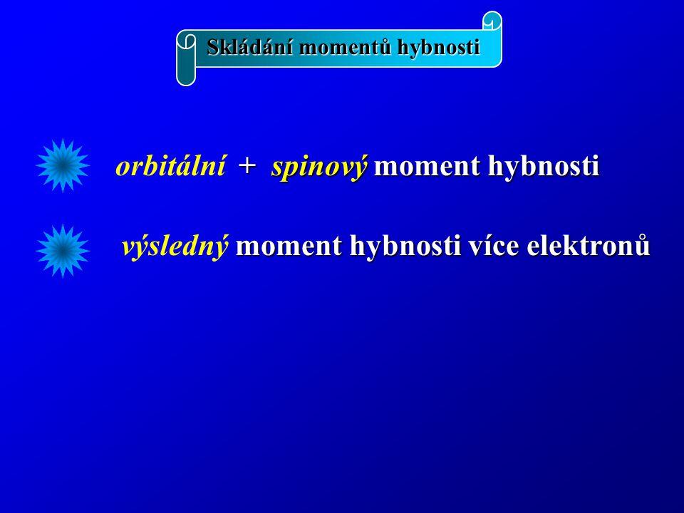 orbitální + spinový moment hybnosti